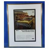 "Authentic 1970 Chevy Nova Advertisement 11x14""h"