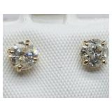 B21- 10k yellow gold diamond earrings $2,580