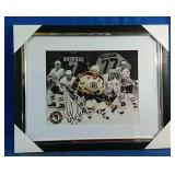 Framed Print of Ray Bourque with facsimile