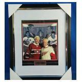 Framed print of Jean Belliveau and Gordie Howe
