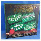 Brand New box set of 4 Casino Games