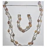 151- Freshwater pearl bracelet & necklace set $300