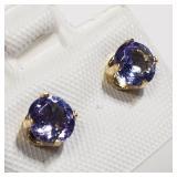 158- 10k white gold lolite 0.56ct earrings $100