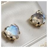 196- 10k yellow gold moonstone earrings $200