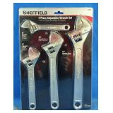 New in package Sheffield 4pc Adjustable Wrench