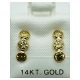 X202- 14k champagne color diamond earrings $2,400