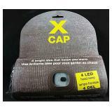 New X Cap winter toque with 4 LED headlamp
