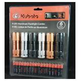 New 6 pack of Kubota 9-LED lights with batteries