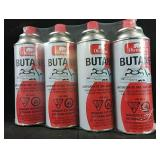 4 pack of New Butane cannisters for porta stove