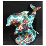 New ocean theme ceramic dolphin decor