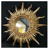 New in box Heavy sun shaped mirror 17x17 inch