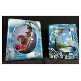 New in box Two dolphin theme picture frames
