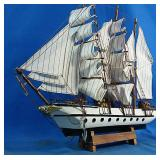 New Wooden sail boat model decor