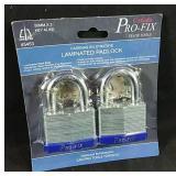 Brand new 2 pack of laminated steel padlocks