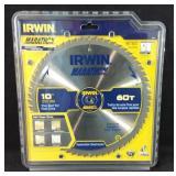 "New Irwin 10"" circular saw blade 60 tooth"