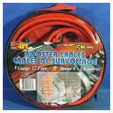 New 12 foot booster cables