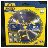 """New Irwin 7-1/4"""" circular saw blade"""