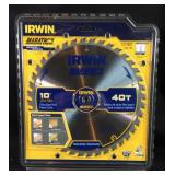 "New Irwin 10"" circular saw blade 40 tooth #2"