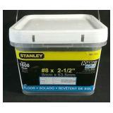 """New 1,600 count Stanley 2-1/2"""" floor screws #2"""