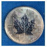 1 oz. .9999 Silver 2008 Maple Leaf Coin