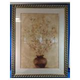 """Large Floral Picture Hanging measures 34"""" x  44"""""""