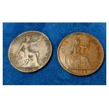 1920 & 1966 British Pennies