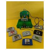 Nintendo 64 With 9 games and remote  powers on