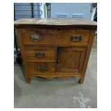 """Lovely vintage wooden hutch 31"""" x 17"""" x 28""""H"""