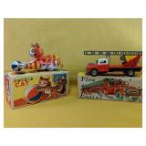 """Vintage """"Puzzle Cat"""" & """"Fire Engine"""" 4""""-6"""""""