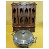 """""""Viking Plate"""" Round pot 8""""D x 5""""H and spice rack"""