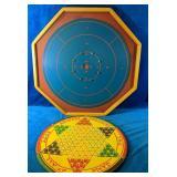 Vintage Game Lot includes a Crokinole Board as