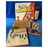 Vintage Game Lot includes Rummoli, Pick up