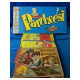 Vintage Game Lot includes Parcheesi, Mosaic