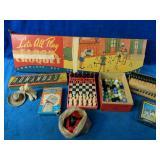Vintage Game Lot includes Floor Croquet, Dominos,