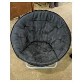 """Moon chair 31""""D x 26""""H  small apology on seat"""