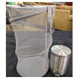 """Collapsible laundry basket 16""""D x 26""""H and"""