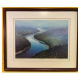 "Beautifully framed art piece ""River of Dreams"" b"