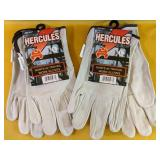 """Two NEW """"Hercules"""" Gloves, Size Large"""