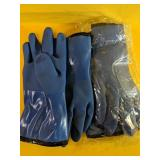 Two pairs of Insulated rubber work gloves