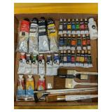 Collection of professional artists oil paints and