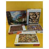 Collection of 5 high quality jigsaw puzzles