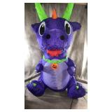 Inflatable sitting baby dragon with a multi use