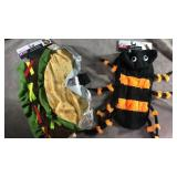 Dog costumes! Size small spider and medium taco