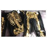 Liquid gold skeleton Halloween costume . Size