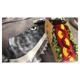 Dog costumes! XLarge shark and hotdog