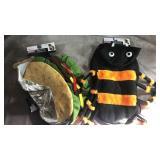 Dog costumes! Size medium taco and spider
