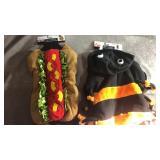 Size large spider and medium hotdog dog costumes!