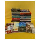 Assortment of books, guides and magazines