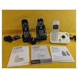 Three Cordless vtech phones, includes 1 answering