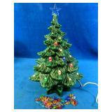 Vintage Ceramic Christmas Tree powers on